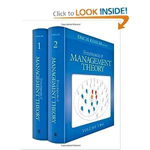 Encyclopedia of Management Theory Eric H. (Howard) Kessler