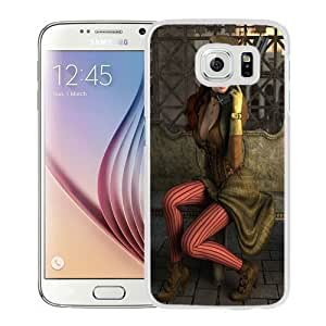 NEW Unique Custom Designed Samsung Galaxy S6 Phone Case With Steampunk Girl Outfit_White Phone Case Kimberly Kurzendoerfer
