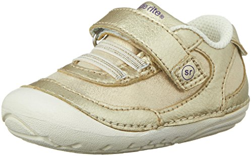 Stride Rite Baby Girl (Stride Rite Soft Motion Jazzy Sneaker (Infant/Toddler), Gold, 3 M US Infant)