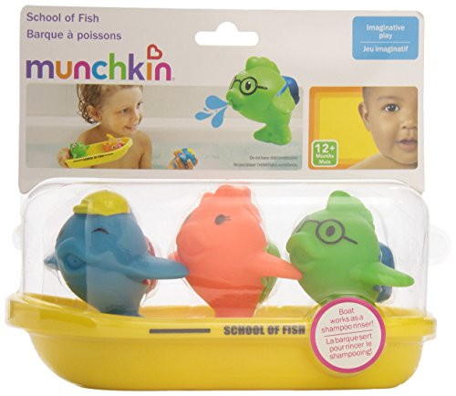 511KCTzbaQL - Munchkin Bath Toy, School of Fish