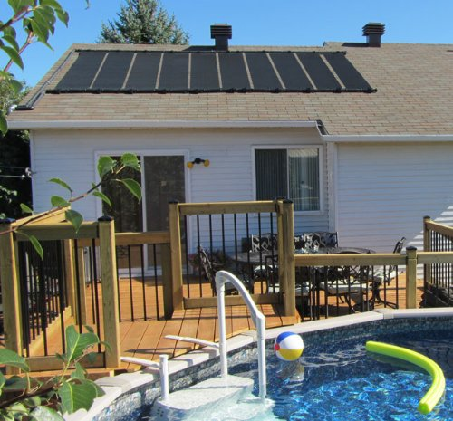 511KCxug0CL - 2X12' SunQuest Solar Swimming Pool Heater Complete System with Roof Kits