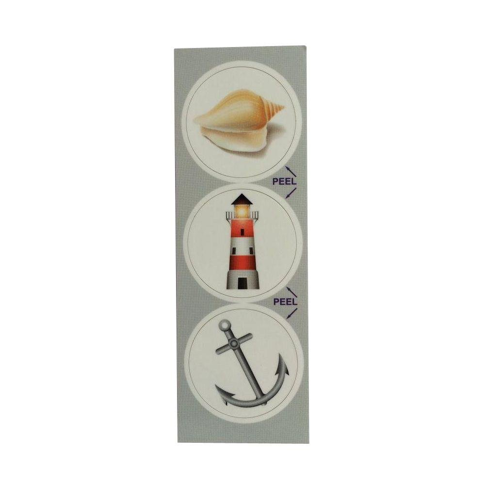 Stopper Toppers Nautical Decorative Bathroom Sink Stopper Laminates (Set of 3)