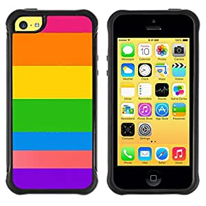 Suave TPU GEL Carcasa Funda Silicona Blando Estuche Caso de protección (para) Apple Iphone 5C / CECELL Phone case / / Purple Orange Sun Summer Beach /