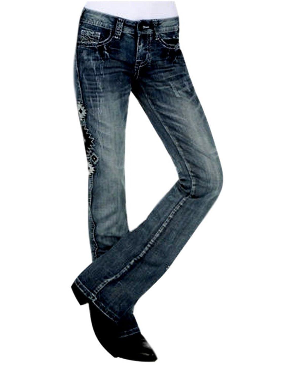 Cowgirl Tuff Western Denim Jeans Womens Denim Aztec II Med JATEII