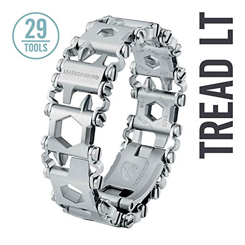 (LEATHERMAN - Tread LT Bracelet, The Smaller Travel Friendly Wearable Multitool, Stainless Steel)