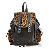 Big Buddha Doris Backpack Handbag (Leopard)