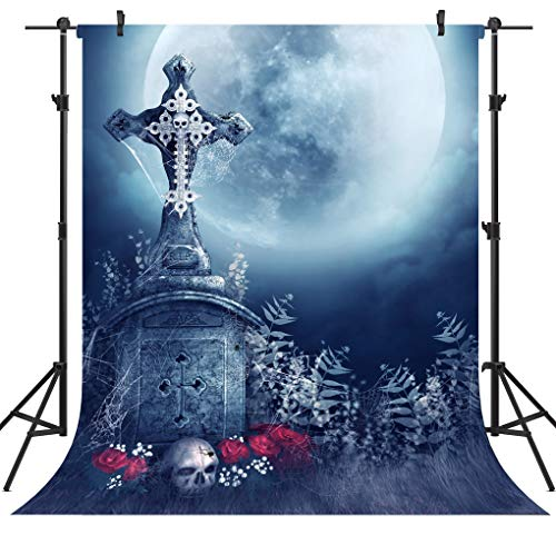 OUYIDA 5X7FT Halloween Theme Pictorial Cloth Customized Photography Backdrop Background Studio Prop TP137A ()