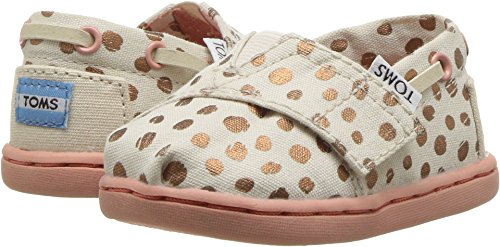 TOMS Kids Baby Girl's Bimini (Infant/Toddler/Little Kid) Rose Gold Dots 6 M US Toddler