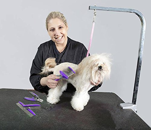 Hertzko Double Sided Flexible Slicker Brush By Removes Loose Hair, Tangles, and Knots, Flexible Head Contours on Your Pet's Skin - Suitable for Dogs and Cats by Hertzko (Image #6)