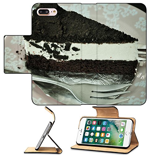 MSD Premium Apple iPhone 7 Plus Flip Pu Leather Wallet Case Chocolate cheese cake cream pie Vintage style IMAGE 20036793 Traditional Cheesecake