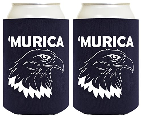 Funny Can Coolie Murica Bald Eagle 2 Pack Can Coolies Navy (4th Of July Cake Pops Ideas)