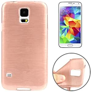 Brush Texture TPU Case Funda Carcasa para Samsung Galaxy S5 G900 () Magenta