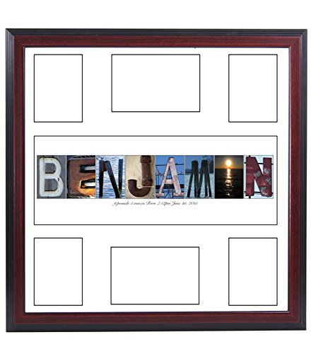 Personalized Children's Guest Registry Signature Mat with 6 Opening Name Collage, 20 by 20 inch Frame Included - Exclusively By Creative� by Creative Letter Art