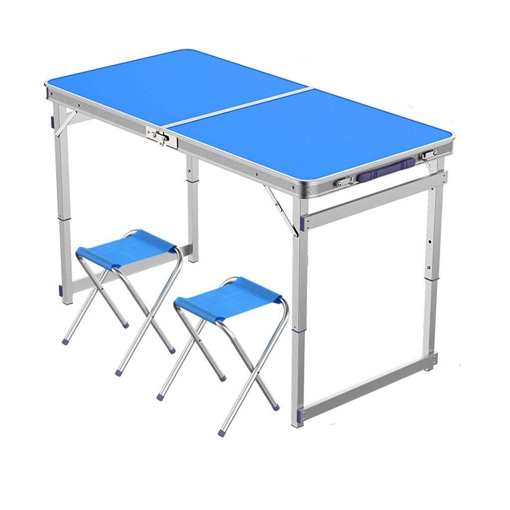 LYLLYL Tavolo Pieghevole Tavolo Pieghevole per Esterni tavolino Multifunzione Portatile Semplice Tavolo da Pranzo in Alluminio Tavolo Pieghevole (colore   B)