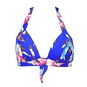 JOYMODE Women's Sexy Bralette Bikini Top Push Up Padded Swimwear Size 10-12 Blue Floral