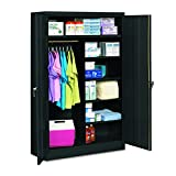 Tennsco J2478SUCBK Jumbo Combination Steel Storage Cabinet, 48w x 24d x 78h, Black