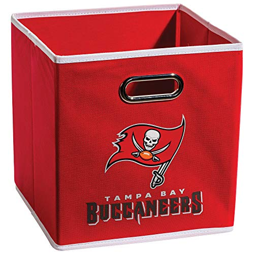 Franklin Sports NFL Tampa Bay Buccaneers Fabric Storage Cubes - Made To Fit Storage Bin Organizers ()