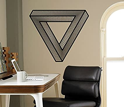 Amazoncom Optical Illusion Wall Vinyl Decal Impossible