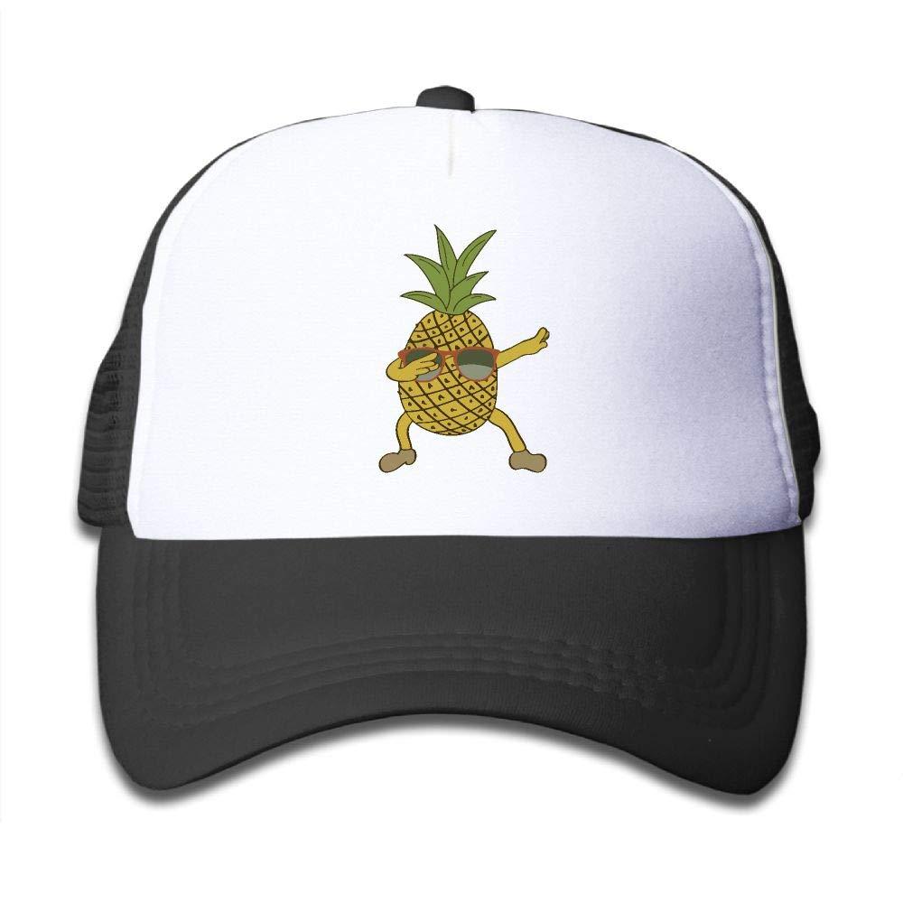 NO4LRM Kid's Boys Girls Aloha Pineapple Youth Mesh Baseball Cap Summer Adjustable Trucker Hat