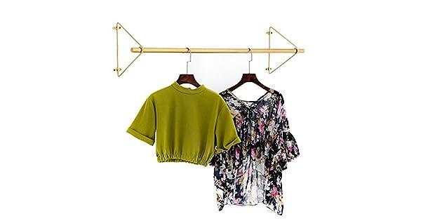 Amazon.com: Perchero de pared de metal para colgar ropa en ...