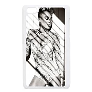 Ipod Touch 4 Case Miley Cyrus for Guys, Ipod Touch 4 Case Cute Tyquin, [White]