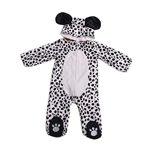 Dalmatian Puppy Costume For Baby Dog Pajamas Sleeping Wear For 0/6M Animal Outfits By (Dalmatian Halloween Costumes)