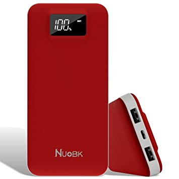Nuobk 20000mAh Cargadores Portátiles Batería Externa Portátil Cargador Móvil Power Bank Dual Salida USB Power Bank con LED-Indicación del Estado ...