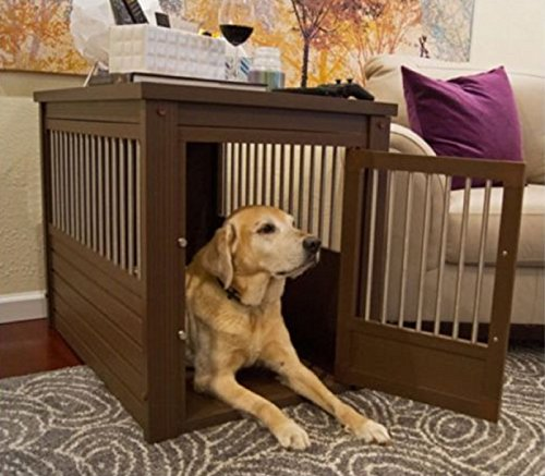 Hot Sale! Large Dog Kennel Cage Crate Pet Eco Wood Oversized Puppy Bed End Table Furniture (Choice Next Furniture)