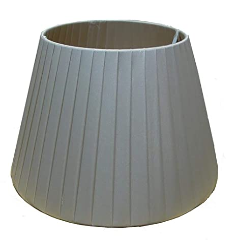 Grey Champagne Ceiling Light Pendant White Pleated Empire style Lampshade