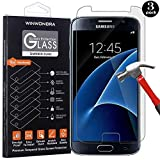 [3-Pack] Galaxy S7 Screen Protector,WINWONBRA [9H Hardness] [Anti-Scratches] [Anti-Fingerprint] Tempered Glass Screen Protector Film Compatible with Samsung Galaxy S7
