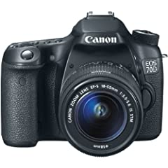 The Canon 8469B009 EOS 70D 20.2MP Digital SLR Camera Body plus EF-S 18-55mm IS STM Standard Zoom Lens features an APS-C CMOS sensor and DIGIC 5+ image processor to ensure high-resolution images and excellent low-light sensitivity. Both the se...
