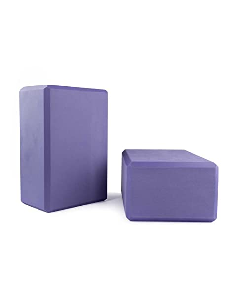 Bloques des yoga (bi-pack), violet, appr. 22 x 15 x 10 cm ...