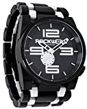 Rockwell Time Men's 50mm Dial Watch, Black Case/White