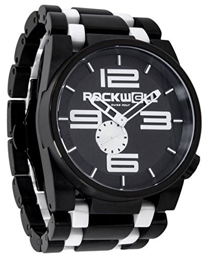 Rockwell Time Men's 50mm Dial Watch, Black Case/White by Rockwell Time