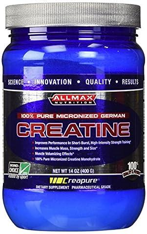 ALLMAX CREATINE MONOHYDRATE, 100% Pure German Micronized, Pharmaceutical grade Dietary