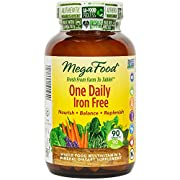 MegaFood - One Daily Iron Free, Natural Multivitamin Support for Well-Being 90 Tablets (FFP)