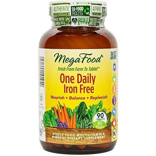 MegaFood - un quotidien fer libre, prend en charge une santé optimale & Well-Being, 90 comprimés (FFP)