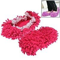 Neuheit Putz Hausschuhe Mop Schuhe für Sie und Ihn (Größe 37-43) Farbe Pink