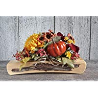 ''HANDMADE''Rustic wooden centerpiece with fall flower, Fall floral decor, Farmhouse arrangement, Wedding decor table country sunflowers, Thanksgiving