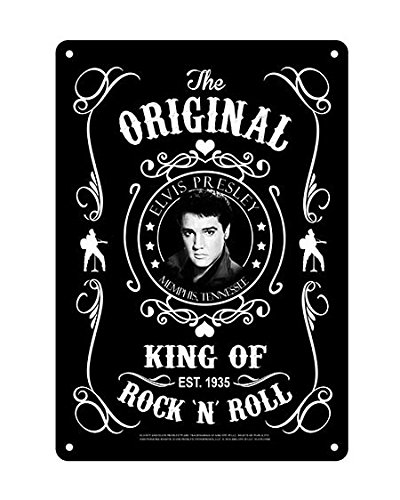 - Midsouth Products Elvis Presley 8x11.5 Tin Sign Black & White Established