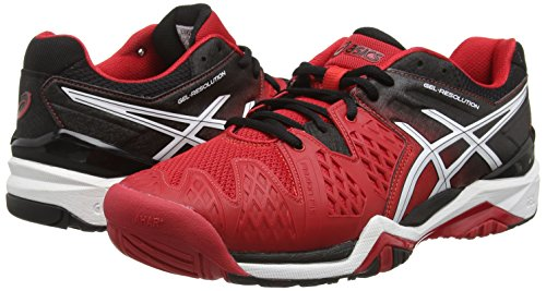 De Asics Rouge 2390 6 resolution Gel Tennis fiery Pour Chaussures Black Red White Homme CrCIw