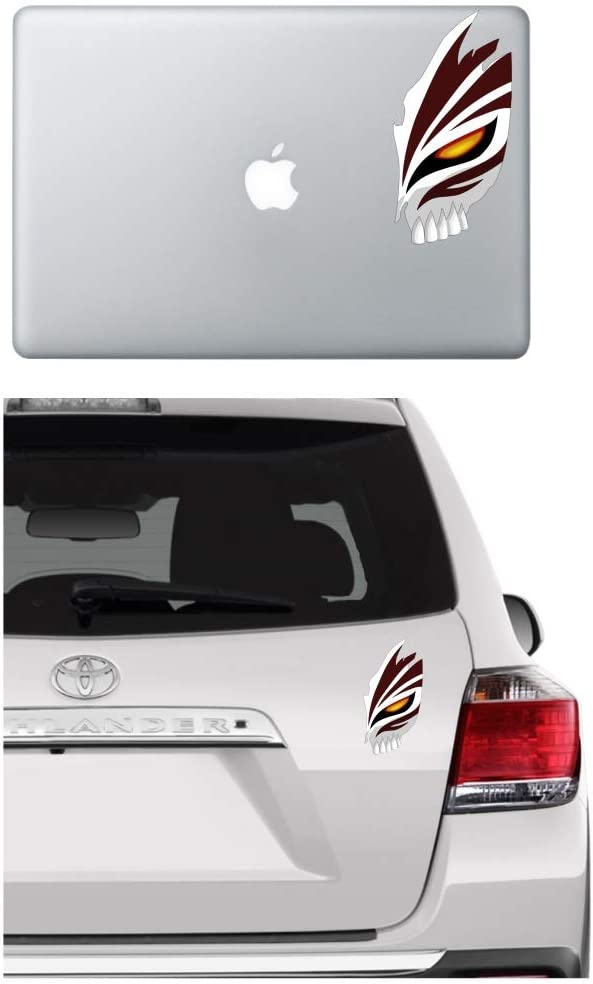 Bleach Anime Ichigo mask Vinyl Decal Sticker Skull Decals for Car Window/Bumper, Laptop, Door, Wall by A-B Traders.