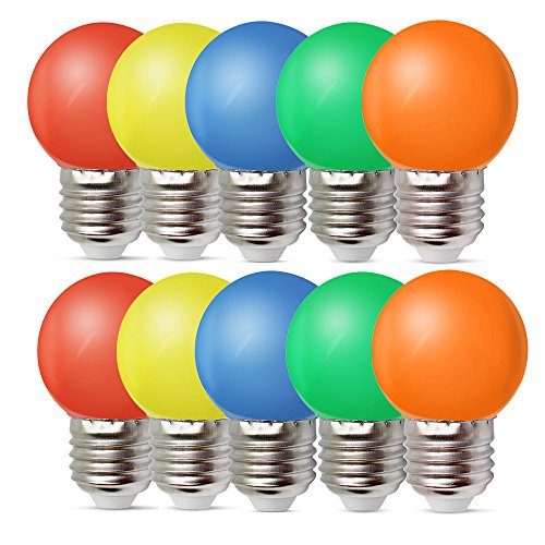 Colored Led Night Light Bulbs in US - 7