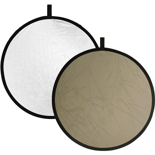 Impact Collapsible Circular Reflector Disc - Soft Gold/White - 12'' by Impact