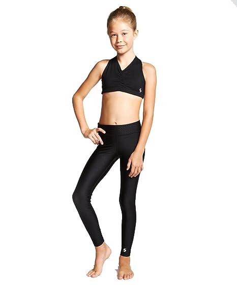3d1dd5c7f9330 SOFFE Girls SLAYING IT LEGGING (4105G) -BLACK -LARGE: Amazon.co.uk: Clothing