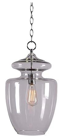 Kenroy Home Kenroy Home 93037CLR Apothecary 1 -Light Pendant