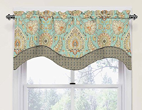 Waverly 15392052018OPL Clifton Hall 52-Inch by 18-Inch Scalloped Window Valance, Opal