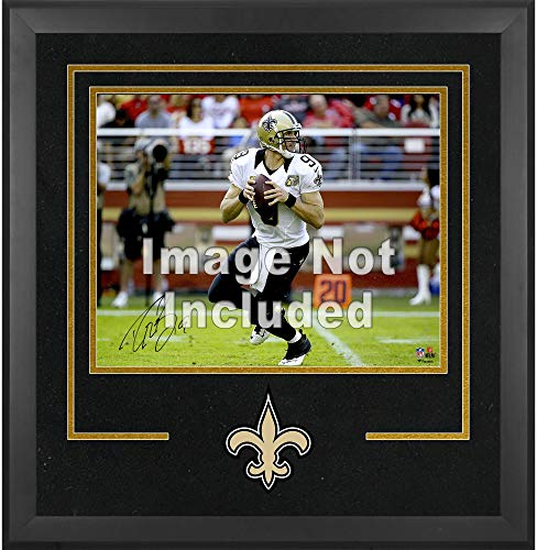 Mounted Memories New Orleans Saints 16x20 Horizontal Set Up Frame with Team Medallion - New Orleans Saints One Size