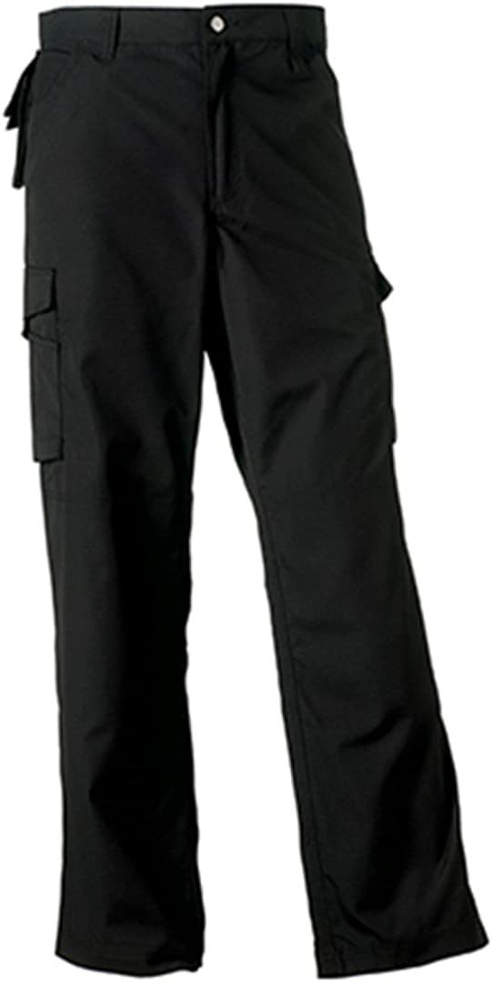Russell Mens Heavy Duty Stain Resistant Workwear Work Cargo Pocket Trousers