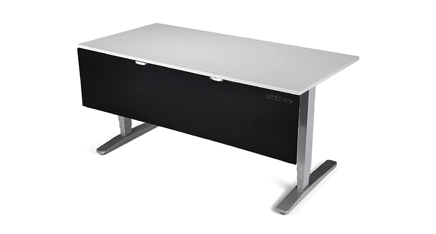 White UPLIFT Desk 29 Modesty Panel with Wire Management